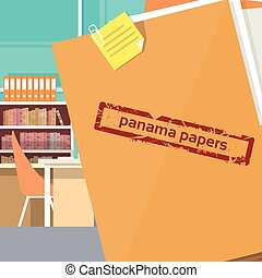 Panama Papers Folder Secret Document Offshore Company...