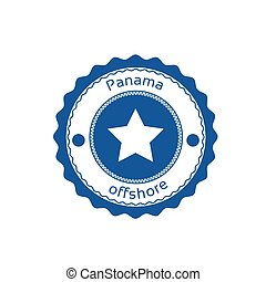 Offshore Panama Flag Circle Stamp Sign Illustration