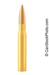 ball cartridge with a bullet vector illustration isolated on...