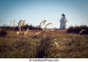 Historic Lighthouse at Waipapa Point New Zealand