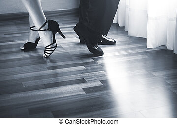Ballroom dance latin dancers - Male and female ballroom,...