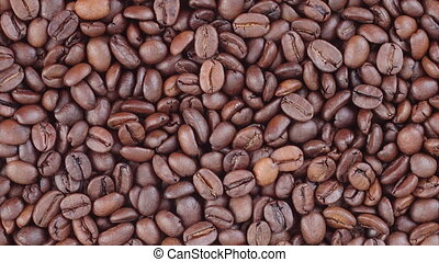 Coffee beans rotating video
