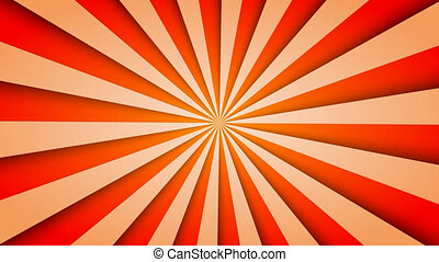 Sunburst pattern animation vintage retro round background -...