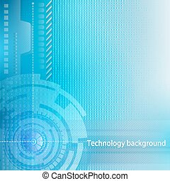 Abstract technology background. Con