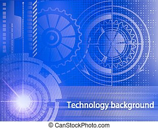 Abstract technology background. Concept of industrial design. Beautiful colors