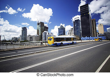 brisbane brige - Brisbane with busses