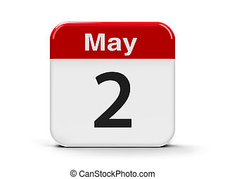 2nd May - Calendar web button - The Second of May,...
