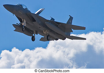 F-15 Strike Eagle returning from Red Flag excercises