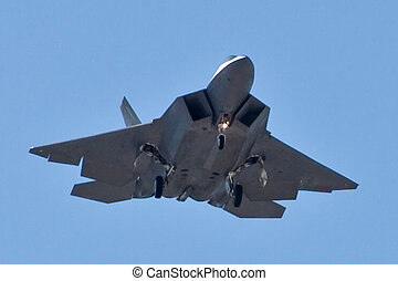 F-22 Raptor - An F-22 Raptor returns to Nellis.