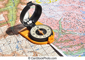 Compass and maps Compass on the map - this is the open door...