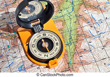 Open compass on the maps - Compass on the map - this is the...