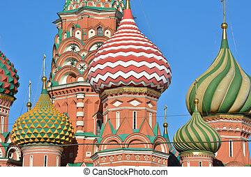 St. Basil's Cathedral on red square in Moscow. Moscow,...