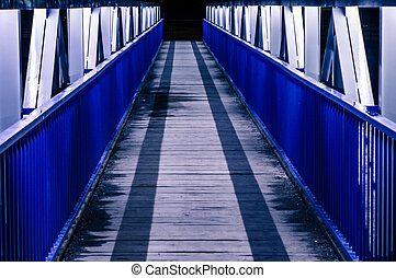 Bridge to nowhere - Pedestrian bridge to nowhere at night