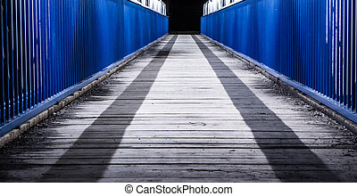 Footbridge to nowhere - Pedestrian bridge to nowhere at...