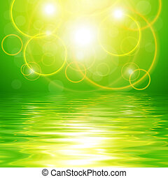 Green abstract background - Green background with abstract...