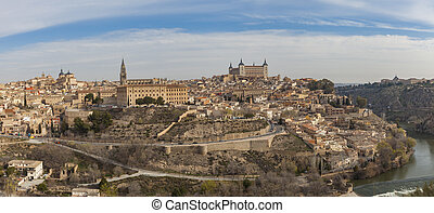 Toledo - Panoramic view of the city of Toledo, Spain