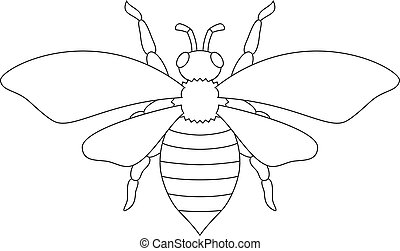 White silhouette of the bee.