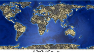 driving seamless map of the earth with a fantastic land...