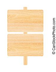 木製である, 白, 隔離された, 背景, 印
