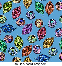 vector pattern of psychedelic shapes - vector seamless...