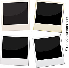 polaroid frames - Polaroid frames, 4 pieces of polaroid with...