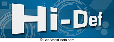 Hi-Def Techy Background - Hi-def text with reel over...