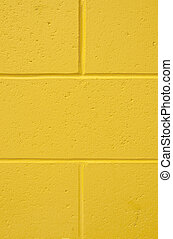 Background vertical yellow brick wall
