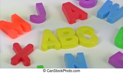 ABC - Footage of colorful alphabet toy letters spelling ABC...