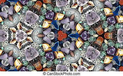 HD seamless texture, stone fantasy, kaleidoscopic vision -...