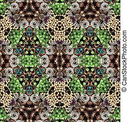 Caleidoscope texture of glimmering trinkets - Kaleidoscope...