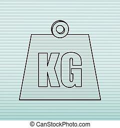 weight measurement design, vector illustration eps10 graphic...