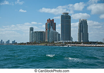 Fort Lauderdale - partial skyline in fort lauderdale florida...
