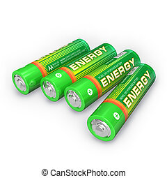 Four AA batteries  - Four AA batteries