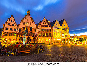 Frankfurt old town sunset Germany