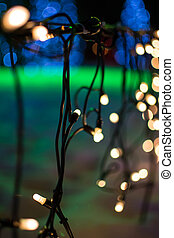 abstract background of blurred lights with bokeh effect...