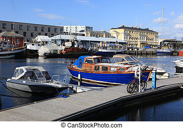 Coast in Trondheim city, Norway