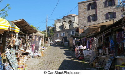"""traditional stone houses old turkish villages around Assos,..."