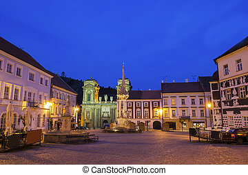 Main Square in Mikulov in Czech Republic - Main Square with...