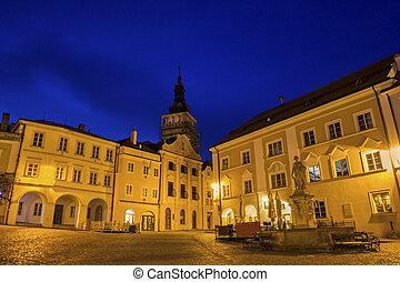 Historic Square in Mikulov in Czech Republic - Historic...