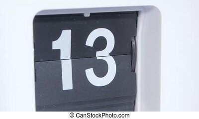Flip clock Close up - Flip clock, retro flip style clock,...