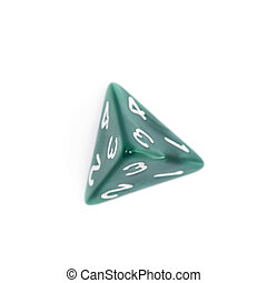 Roleplaying polyhedral dice isolated - Green roleplaying...