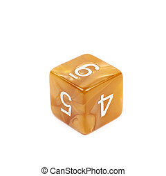 Roleplaying polyhedral dice isolated - Roleplaying orange...