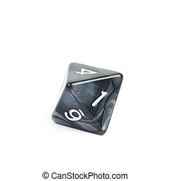Roleplaying polyhedral dice isolated - Roleplaying black...