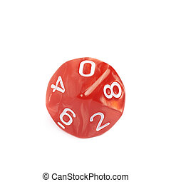 Roleplaying polyhedral dice isolated - Red roleplaying...