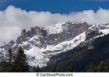 Mountains in the Valley di Fassa
