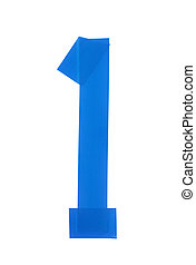 Number one symbol made of insulating tape isolated over the...