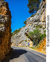 The canyon Verdon, Provence - Sharp mountain road. The...
