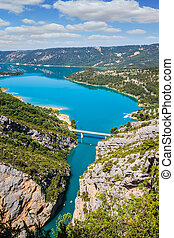 The alpine canyon Verdon spring - The largest alpine canyon...