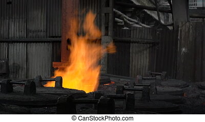 Grasping the deficient burning in the fire of the workpiece...