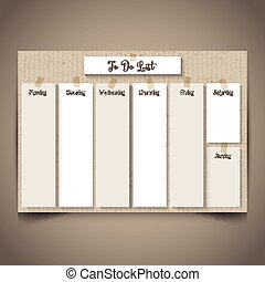 cardboard style to do list 2803 - Weekly planner with a...